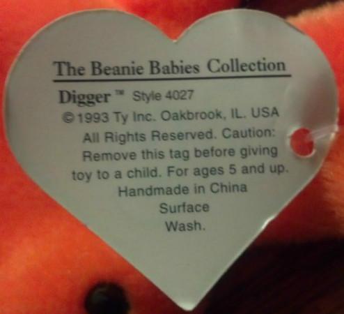 1st Generation Beanie Babies Love My Beanies