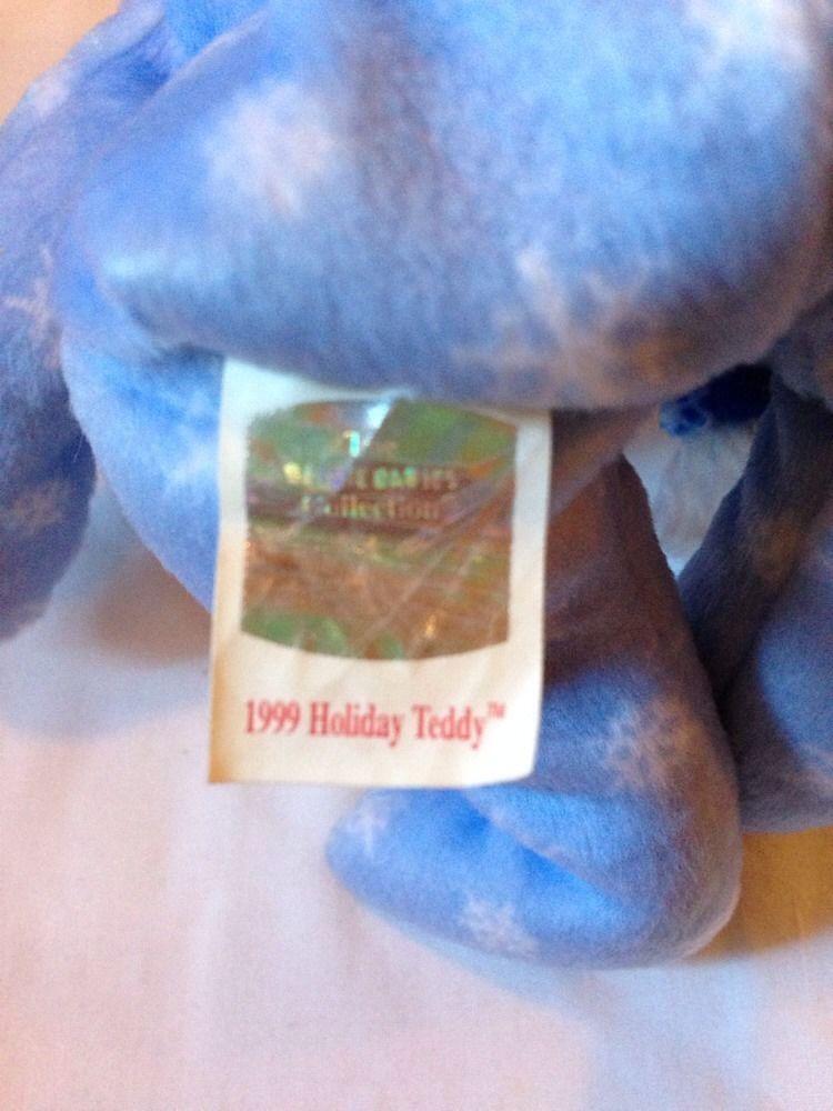 00cb48385a8 1999 Holiday Teddy Bear  Ty Beanie Babies – Love My Beanies