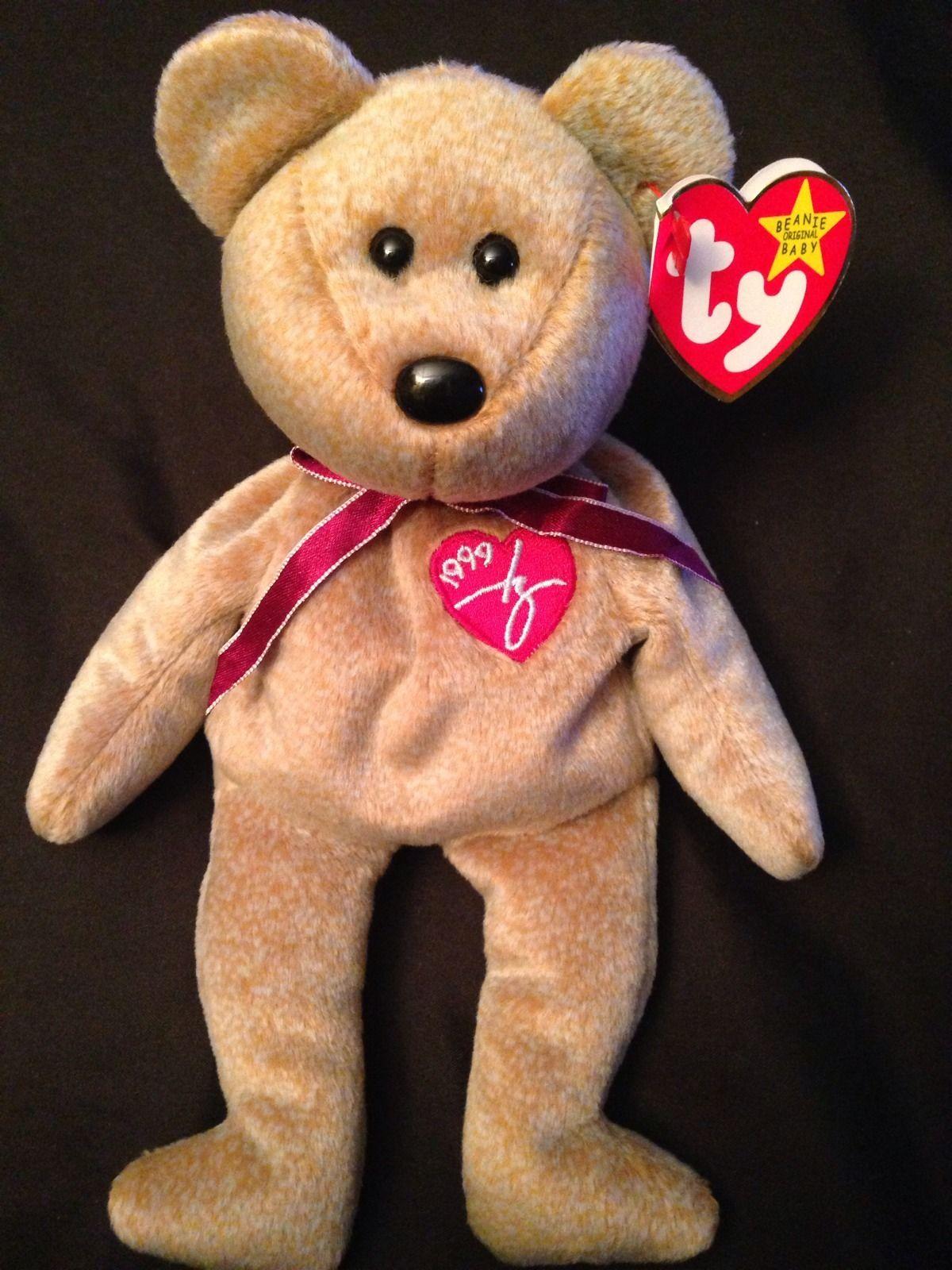 1999 Signature Bear Ty Beanie Babies Love My Beanies